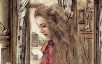 woman long hair drawing