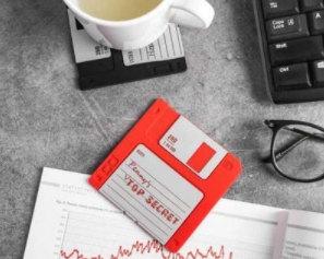 floppy disk drink coasters