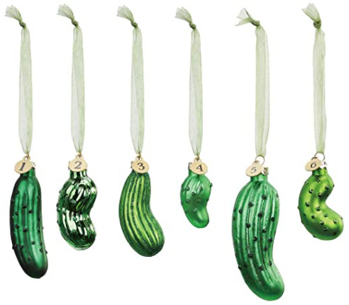 six pickle ornaments game