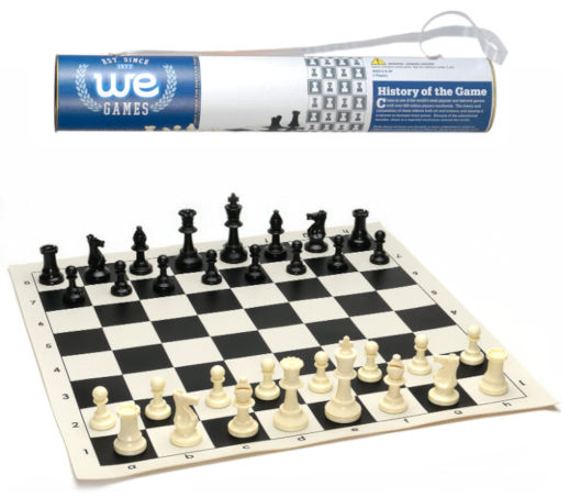 roll-up chess board set