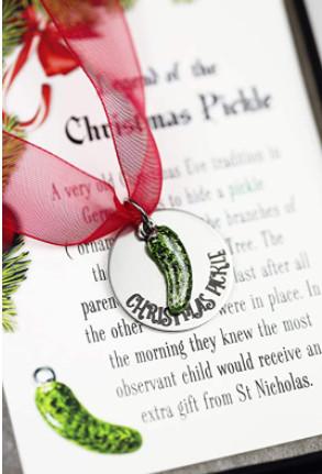 metal pickle ornament